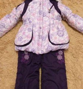 Зимний костюм на девочку 4-5 лет размер 98