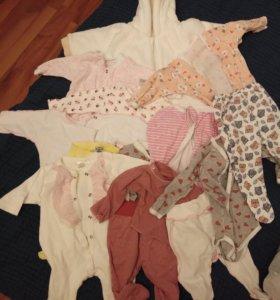Вещи для новорожденной девочки, и старше