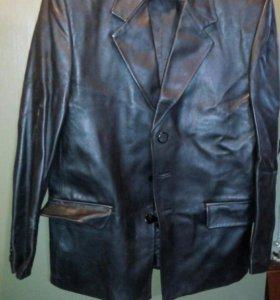Пиджак кожаный мужской 50-52р.