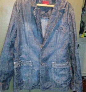 пиджак джинсовый мужской vigoss
