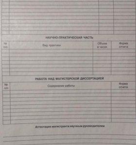 Индивидуальный план подготовки магистра
