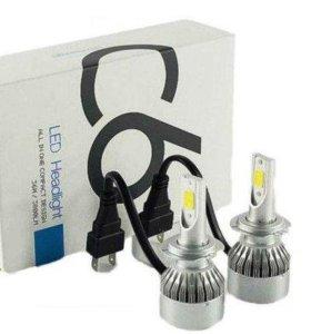 Новые Н7 светодиодные LED лампы (цена за пару).