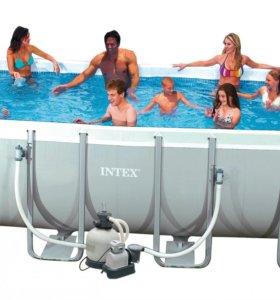 Бассейн Intex 549*274*132 + песочный фильтр