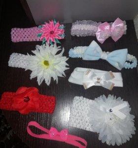 Красивые детские повязки на голову