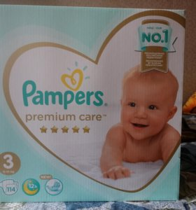 Подгузники pampers premium care 3