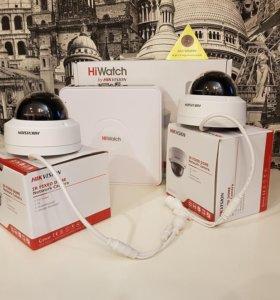4 МП IP комплект наблюдения Hikvision на 2 камеры