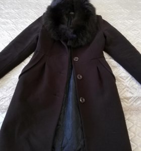 Пальто с натур мехом