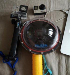 Экшн камера GoPro Hero 4 Black с telesin и аксесс
