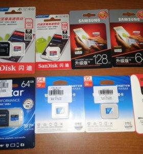 Карты памяти 200гб, 128гб и 64Гб микро SD