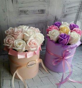 Букет из роз на мыльной основе.