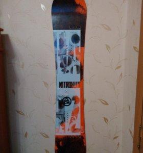 Сноуборд Nitro, ботинки K2 Darko