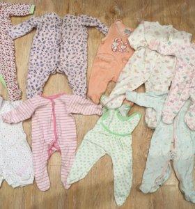 Детская одежда на новорождённого (пакет)