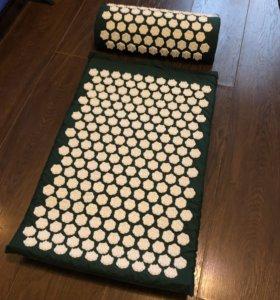 Массажный коврик+ валик, аналог pranamat eco