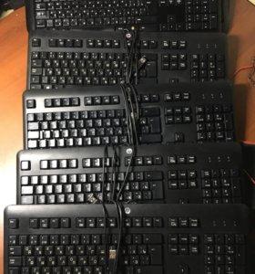 5 клавиатур оптом(1шт logitech k520/ 4шт HP KU1156