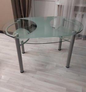 Стол стеклянный (обеденный)
