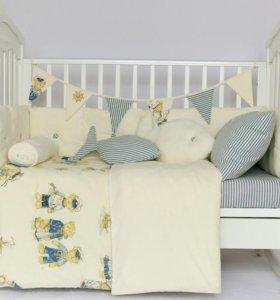 Бортики и постельное в детскую кроватку