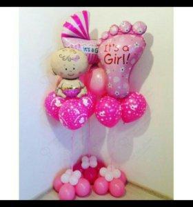 Воздушные шары на празник, на выписку