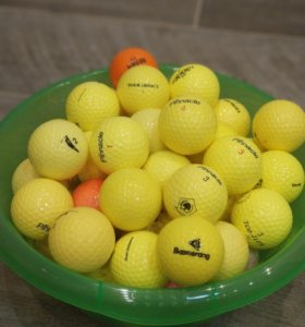 Мячи для гольфа жёлтые