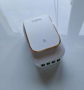 Светодиодный светильник TOPK + зарядное устройство
