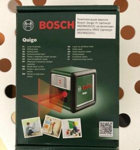 Лазерный уровень нивелир BOSCH Quigo III