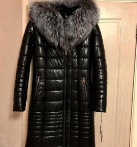 Продам новое пальто из ЭКО кожи на овчине!
