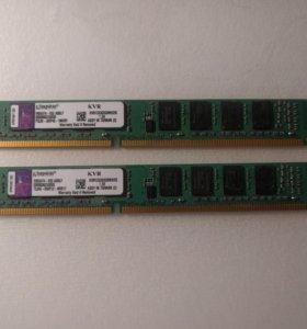 Kingston DDR3 1333 на 2x2гб