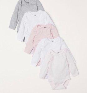 Боди для девочки H&M новые