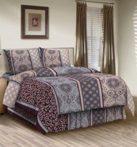 Постельное белье двуспальное бязь премиум постель