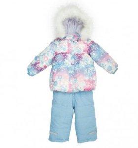 Голубой комплект зимний: куртка, полукомбинезон
