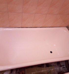 Реставрация ванны наливным акрилом