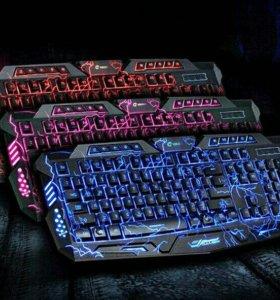 Светящаяся игровая клавиатура