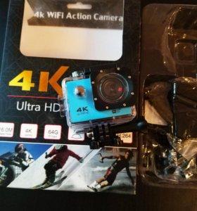 Экшн камера 4К HD Wi-Fi