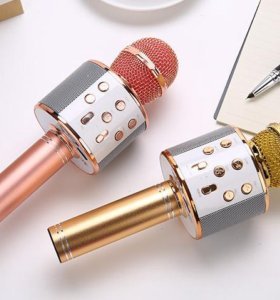 Портативный беспроводной микрофон караоке ws-858