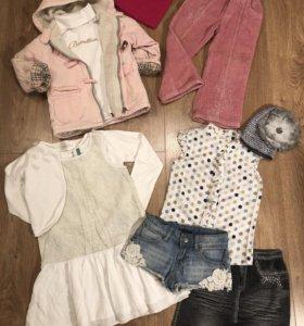 Вещи для девочки Куртка Брюки Шапка Комплект