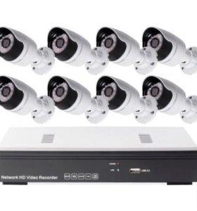 IP Комплект видеонаблюдения на 8 камеры 2Мп