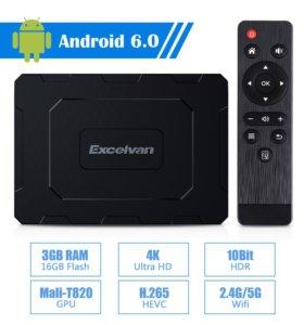 Excelvan EX-T2 8 ядер 3Гб/16Гб смарт тв приставка