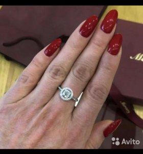 Золотое кольцо с бриллиантом 0,71 карат 750 пр