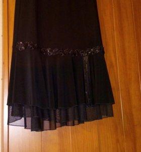 Юбка черная стречевая 46 размер