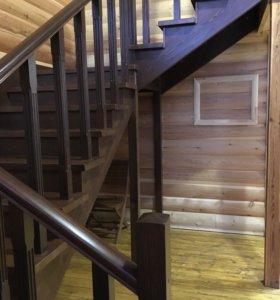 Деревянные лестницы изготовление и установка