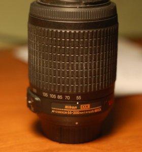 фотообъектив Nikkor AF-S 55-200/4-5.6 VR DX