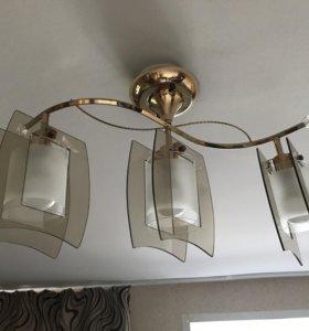 Люстра с лампами светодиодными 12W