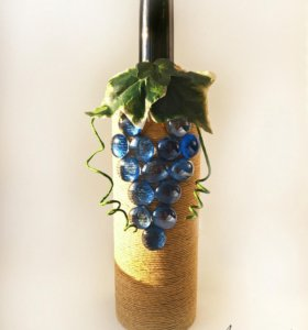 """Чехол на бутылку вина """"Виноградная гроздь"""""""