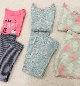 Пижамы Carter's на 4-5 лет