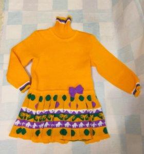 Детское трикотажное платье 104-110