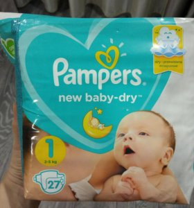 Подгузники, Pampers new baby-dry