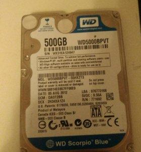 WD scorpio blue 500 gb
