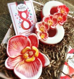 Моя орхидея - подарочный набор мыла к 8 марта