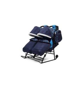 Сани коляска для погодок или двойни