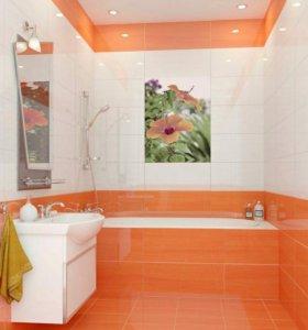 Ремонт ванной,под ключ(снтехника,электрика)