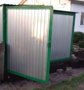 Новый гараж пенал